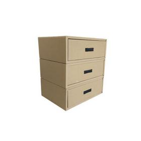 加厚大抽屉储物盒抽屉纸盒服装收纳纸盒环保整理纸盒