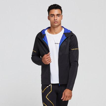 2XU男士运动外套 秋冬季保暖速干防风健身训练连帽夹克