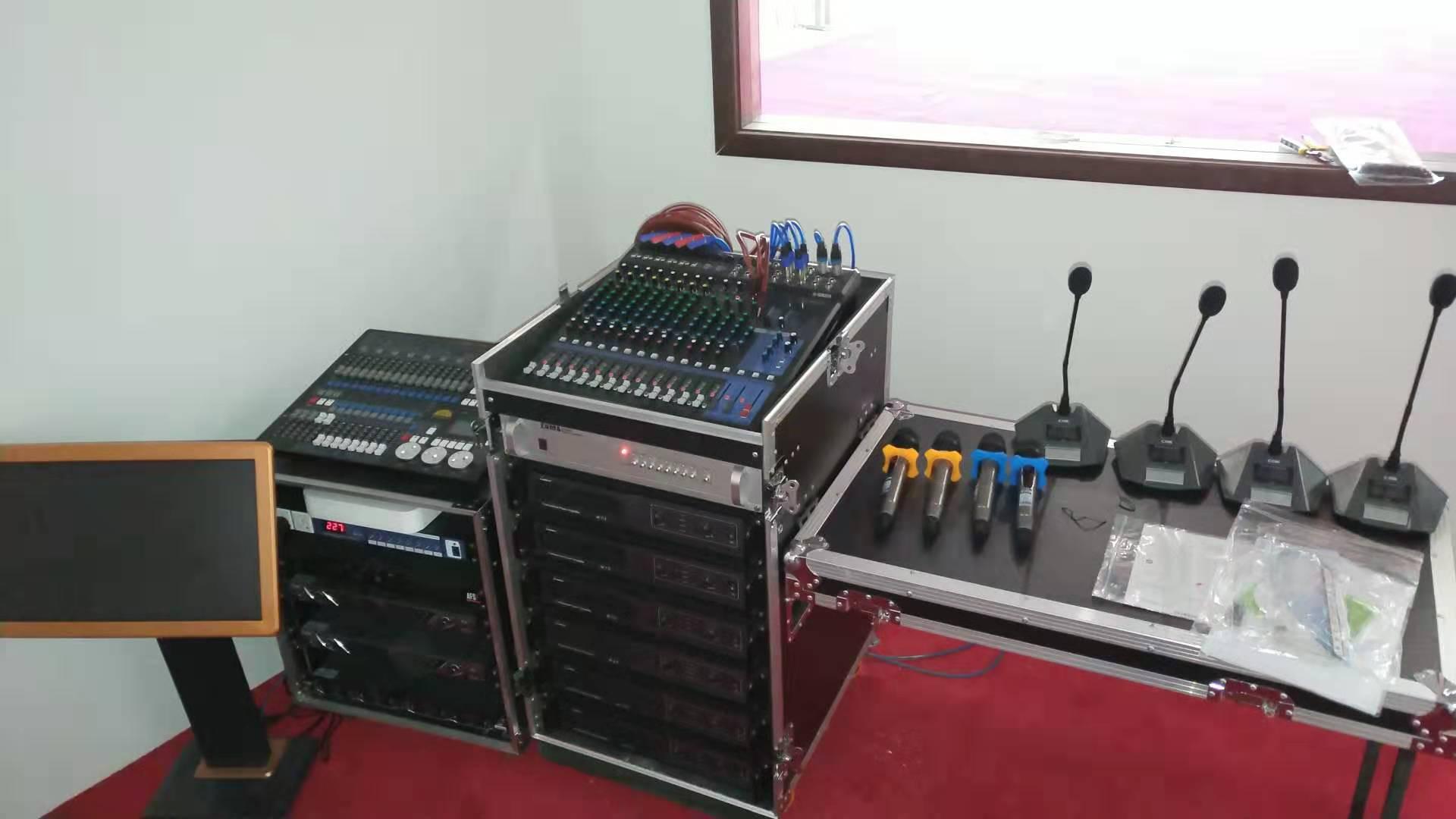 中誉鼎力智能装备有限公司新厂区多功能厅JBL音响灯光设备施工完成