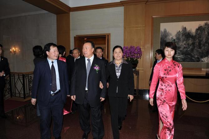 胡兆荣所长陪同全国政协副主席白立忱在钓鱼台国宾馆参加会