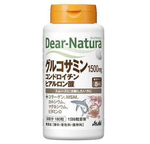日本代购Ashiai朝日Dear Natura 氨基葡萄糖+鲨鱼软骨素