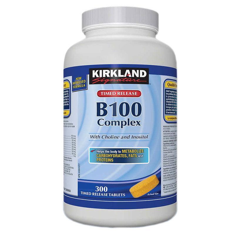 加拿大代购 kirkland可兰B100维生素B族300粒熬夜族缓 解压