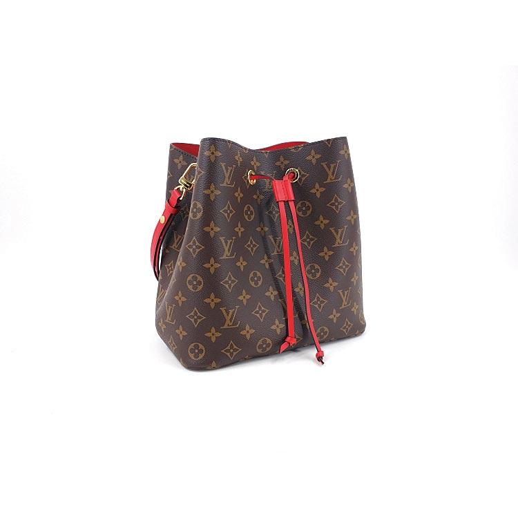 二手奢侈品LV路易威登花色noeneo水桶包大红色单肩背包