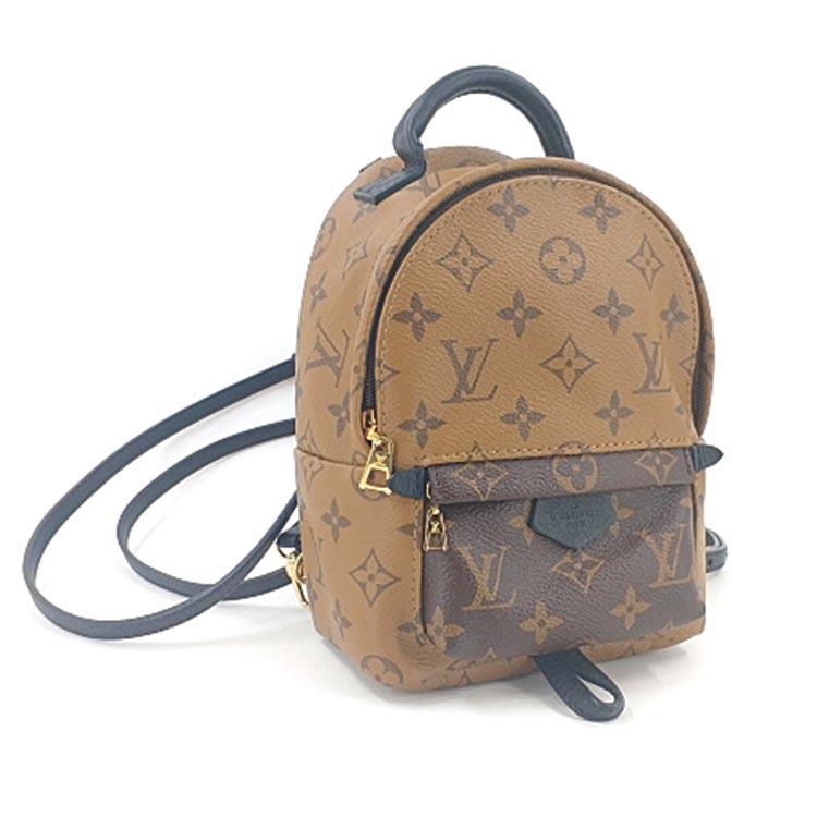 二手奢侈品LV路易威登mini焦糖色拼色双肩包小书包