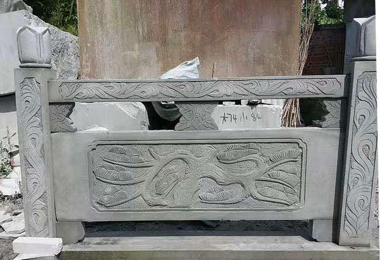 四川青石栏杆价格_翰林石材款式多样