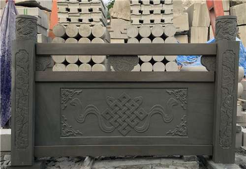 四川青石浮雕欄杆款2_成都翰林石材批發低價價格更優