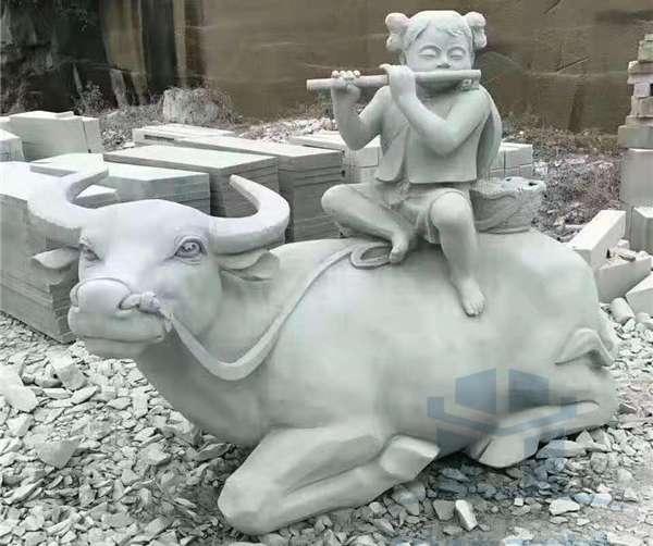 動物石雕一牛_成都翰林石材專業定制批發