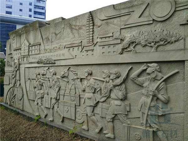 浮雕文化牆——成都翰林石材款式多樣