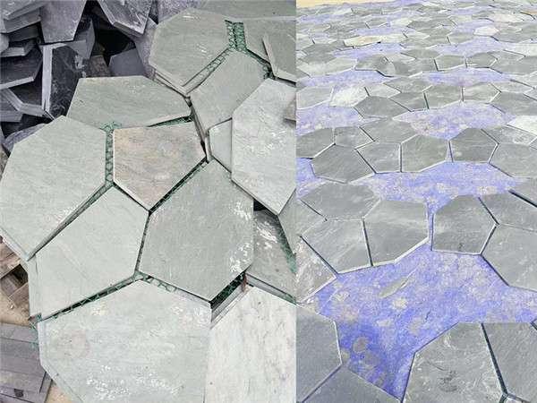 青石冰裂纹石材铺装