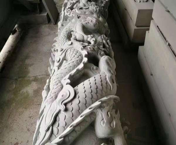 青石文化柱石雕龍柱