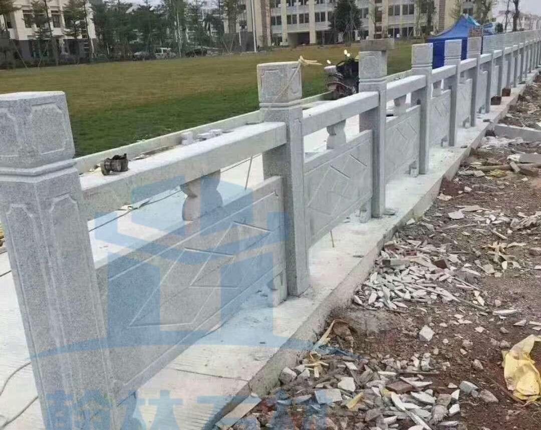 花崗石芝麻灰線雕菱形欄杆