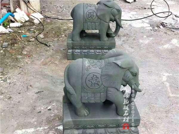 四川青石石雕大象