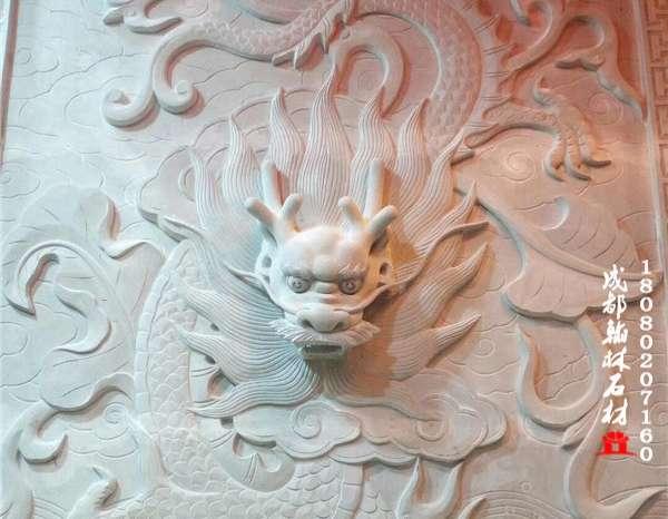 青石浮雕背景墙装饰墙——成都翰林石材批发价格