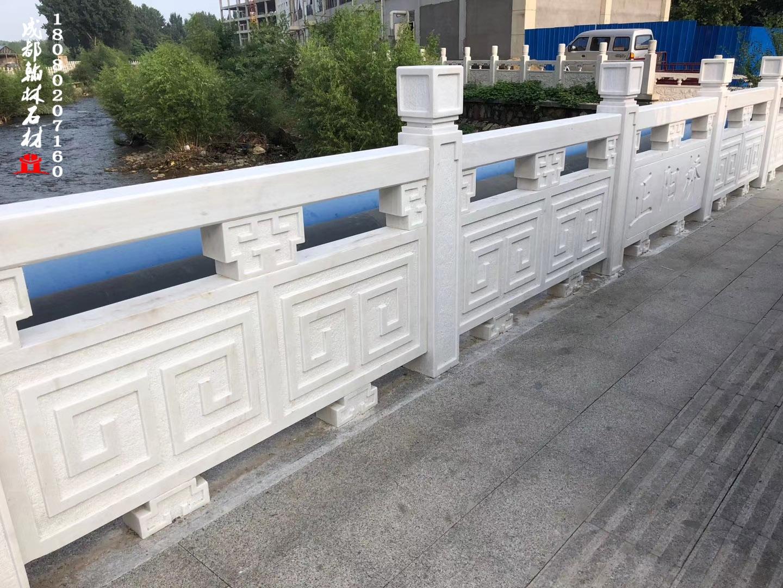 汉白玉栏板栏杆_翰林石材专业定制批发