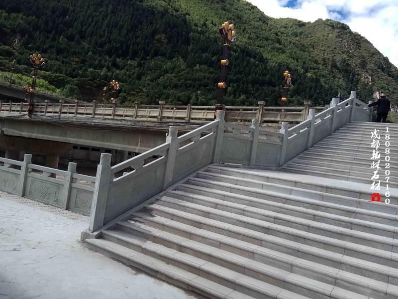 四川青石梯步栏杆