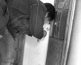 开防盗门锁