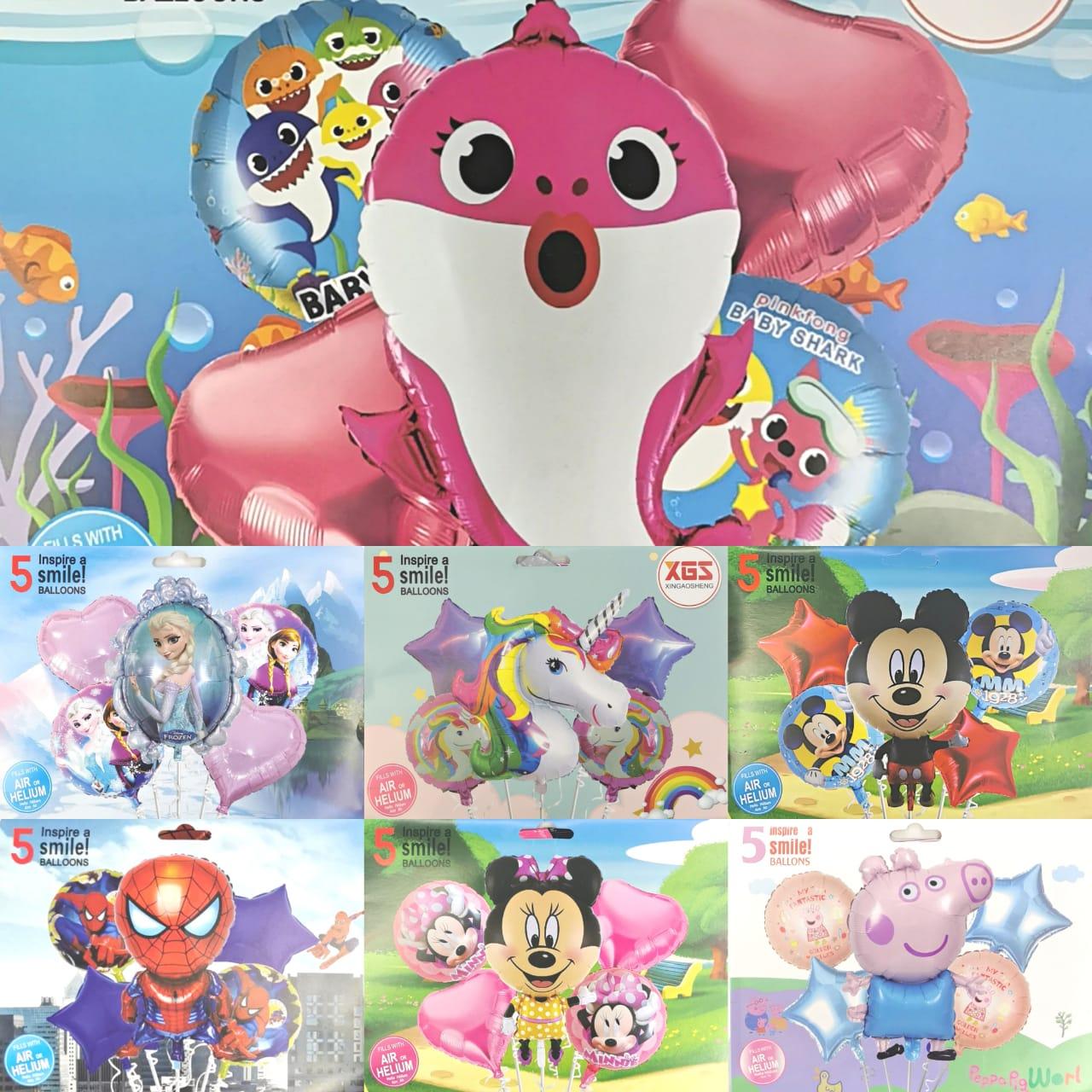 5PC Cartoon Balloon Set