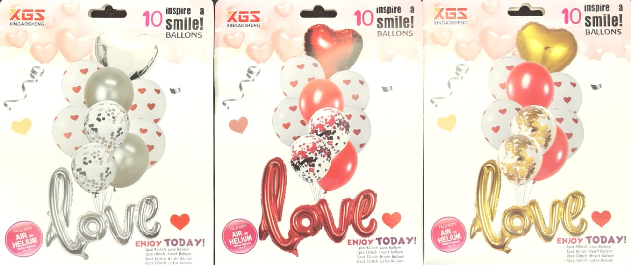 10PCS LOVE Balloon Set