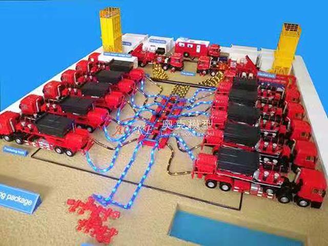 小螺丝钉大作用之压裂车模型